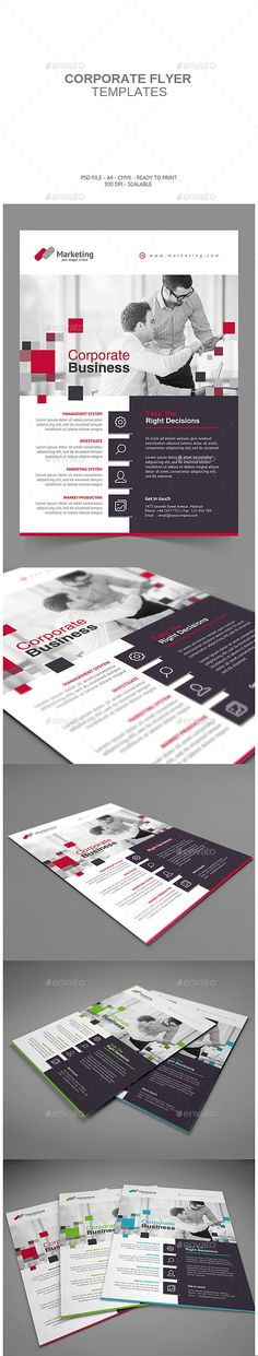 Buy Corporate Flyer by punkl on GraphicRiver. Corporate Flyer Creative and Minimalist flyer, perfect for any personal or corporate use. It's ideal for any company . Web Design, Book Design, Layout Design, Print Design, Graphic Design, Corporate Flyer, Corporate Design, Ideas For Logos, Newsletter Layout
