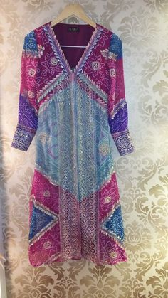 Stunning Ethnic Long Jacket made from an old saree.
