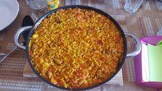 Fideuá rápido al estilo Mercadona Ethnic Recipes, Food, Seafood Paella, Sweets, Food Coloring, Mussels, Style, Essen, Eten