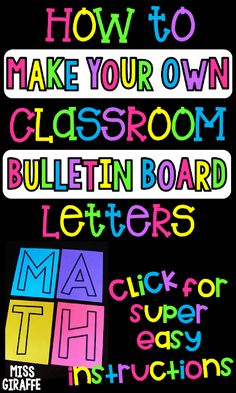 DIY bulletin board letters for your classroom in a super easy step by step guide.- DIY bulletin board letters for your classroom in a super easy step by step guide to make your own classroom decor in any font size or color you want! Save this! Bulletin Board Letters, Back To School Bulletin Boards, Classroom Board, Classroom Bulletin Boards, New Classroom, Classroom Themes, Classroom Displays, Classroom Organization, Classroom Management
