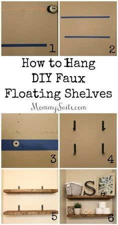 DIY Faux Floating Shelves- Inexpensive and great quality! I want these shelves in every room!