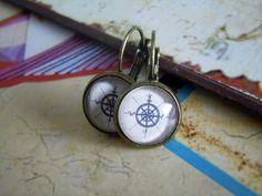 "Maritim look Ohrringe ""Kompass"" von Love design auf DaWanda.com"
