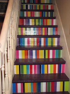 painted stairs--maybe do more pastel?
