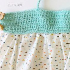 Vestido de ganchillo y tela. Tutorial gratis con BlueBubalu.com Diy For Kids, Doll Clothes, Knit Crochet, Baby Kids, Summer Dresses, Knitting, Crafts, Alice, Barbie
