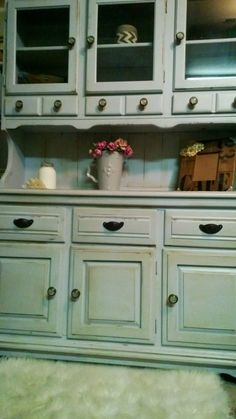 Antiqued Shabby Chic China Hutch sold by CORusticChic on Etsy, $550.00