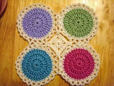 ~ Dly's Hooks and Yarns ~: ~ baby blankie 7c - Candy drops ~