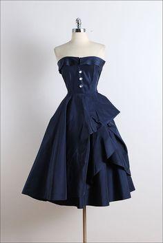 Vintage 50er Jahre Kleid 1950er Jahre Kleid von millstreetvintage