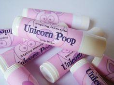 Unicorn Poop Lip Balm by saplingnaturals on Etsy https://www.etsy.com/listing/206151004/unicorn-poop-lip-balm