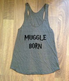 Harry Potter inspired girls ladies Womens Tank top ECO Racer back clothing running workout muggle born