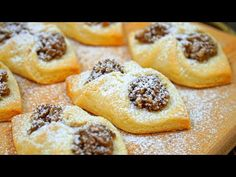 Easy shortbread cookies with filling Shortbread Cookies, Biscotti, French Toast, Muffin, Food And Drink, Breakfast, Desserts, Basket, Biscuits