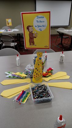 Decorate the Man in the Yellow Hat's Tie! Curious George craft