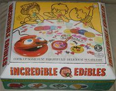 MATTEL: 1966 Incredible Edibles #Vintage #Toys