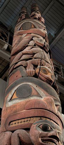 Totem pole Native American Artwork, Native American Indians, Native Indian, Native Art, Native American Mythology, First Nations, Sculpture, Haida Art, Totem Poles