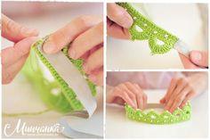 Luty Artes Crochet: Uma coroa de crochê.