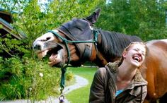 Laughing Horse and Laughing Woman.