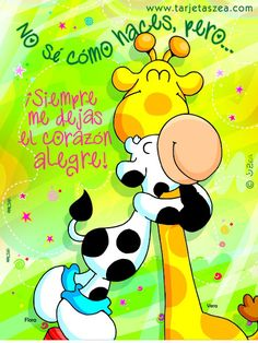tarjeta-de-toda ocasión-Hasta el corazón…. Love Images, Funny Images, Good Thoughts, Positive Thoughts, Birthday Wishes, Birthday Cards, Relationship Gifs, Crush Love, Cute Words