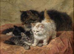 Henriette Ronner-Knip - The Three Little Kittens
