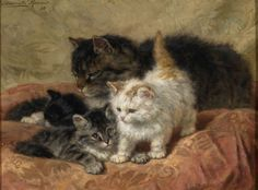 Henriette Ronner-Knip - The Three Little Kittens