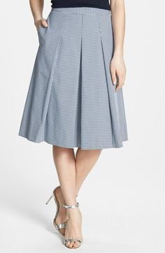 Nordstrom+Collection+Gingham+Pleat+Skirt+available+at+#Nordstrom