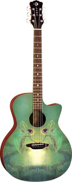 Luna GYPSOTN Gypsy Spirit of The Night Grand Auditorium Acoustic Guitar