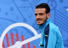 """Alessandro Florenzi of Italy looks on during the training session at """"Bernard Gasset"""" Training Center on June 18, 2016 in Montpellier, France."""