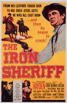 1957 movie posters | the iron sheriff 1957 item ge0002 1 your selected format size product ...