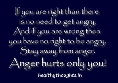 Anger Hurts Only You!