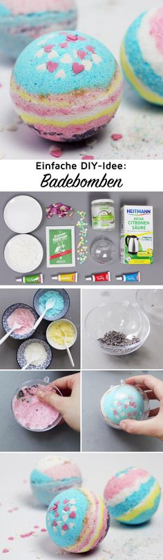 Make DIY bath bombs yourself: Simple DIY instructions- DIY Badebomben selber machen: Einfache DIY Anleitung Make DIY Bath Bombs Yourself – Simple DIY Christmas Gift! I show you today a suuuper simple tutorial for homemade bath bombs with WOW effect. Easy Diy Christmas Gifts, Xmas Gifts, Diy Gifts, Diy Pinterest, Diy Simple, Super Simple, Homemade Bath Bombs, Navidad Diy, 242