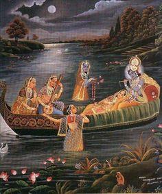 Nathdwara Pichwai Paintings, Indian Paintings, Madhubani Art, Madhubani Painting, Radha Krishna Love, Radhe Krishna, Lord Krishna, Krishna Leela, Indian Traditional Paintings