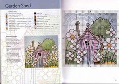 Схемы вышивки от Майкла Пауэлла. Домики крестиком