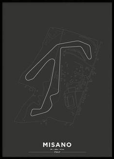 Slot Car Tracks, Race Tracks, Car Posters, Automotive Art, Formula One, Courses, Scandinavian Design, Online Printing, Display