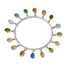 sea glass bangle - pretty!