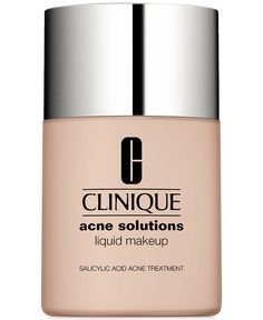 New! Clinique Acne Solutions Liquid Makeup 1 oz / 30 ml 15 Fresh Cream Chamois VFG *** Visit the image link more details-affiliate link. Best Foundation For Acne, Beste Foundation, Foundation Makeup, Foundation Tips, Looks Pinterest, Clinique Cosmetics, Salicylic Acid Acne, Makeup Products, Eye Makeup