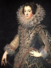 Elisabeth of France 1602-1644 ~ Daughter of Henry of Navarre and Marie de' Medici. 1st wife of King Philip IV of Spain