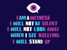 """The symbol is part of """"I Am A Witness,"""" a new campaign that uses emoji to help kids call out bullying. Anti Bullying Week, Anti Bullying Campaign, World History Teaching, World History Lessons, Bullying Posters, Middle School Counseling, Class Meetings, Eyes Emoji, Homeschool Curriculum"""