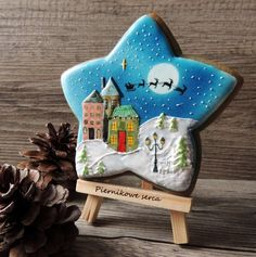 Town on Christmas star by Piernikowe Serca