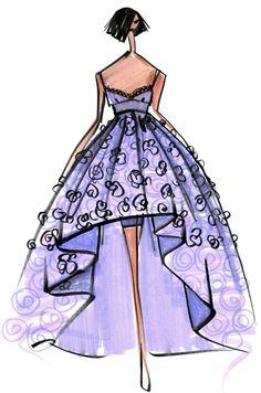 Designer Sketch by Emilio Sosa - PANTONE Violet Tulip Spring 2014 Pantone Fashion Color Report #FCRS14 #pantone @Emilio Sciarrino Sciarrino Sosa