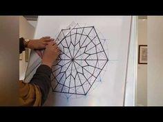 Draw a Persian Orosi Glass Islamic Geometric Pattern – Tile Geometric Drawing, Geometric Circle, Geometric Pattern Design, Geometric Designs, Design Patterns, Cube Pattern, Pattern Art, Corel Draw Tutorial, Zentangle