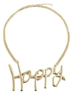 Happy Necklace gold