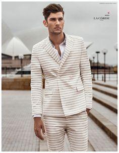 Jack Vanderhart Models Preppy Spring 2015 La Corde Fashions for Harpers Bazaar Man China