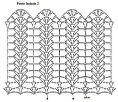 Diy Crafts - Crochet ideas that love Crochet Borders, Crochet Diagram, Crochet Stitches Patterns, Crochet Chart, Filet Crochet, Knitting Patterns, Tunisian Crochet, Motif Bikini Crochet, Crochet Curtain Pattern
