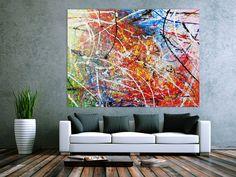 Abstraktes Acrylbild Gemälde bunt modern sehr groß 150x200cm von xxl-art.de
