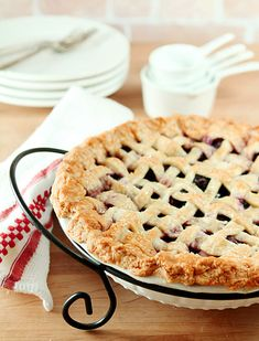 I want to make a better pie crust than my father's...   Perfect Pie Crust and a Fresh Cherry Pie
