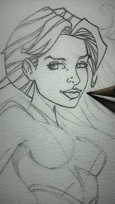 Super Girl em andamento. WIP1. Art by Leandro Sans.