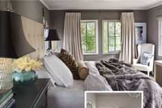 Love the headboard and have been wanting to add curtains to our big window so it doesn't look so plain