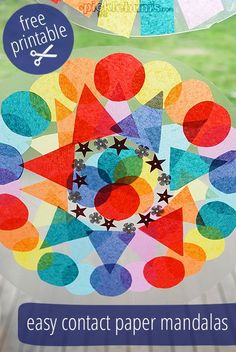 Beautiful!! Easy Contact Paper Mandalas - this looks like a great project to make and send to our sponsored children