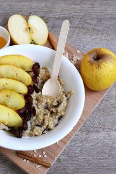 Blog Cuisine & DIY Bordeaux - Bonjour Darling - Anne-Laure: Porridge Pomme au miel - Cannelle et Raisins secs