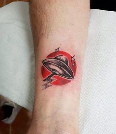 UFO Tattoo Design by tostoner_inksyndrome