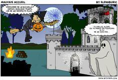 """La classe de français: """"La sorcière et la compagnie"""". Vidéo d'Halloween. L'adjectif qualificatif. Le féminin"""