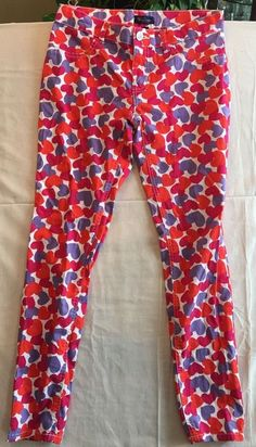 Jeans Pants Jeggings Girls 14 by Place Colorful Hearts Adjustable Waist Stretch…